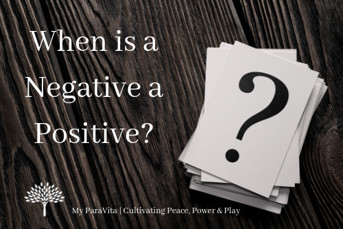 When is a Negative a Positive?
